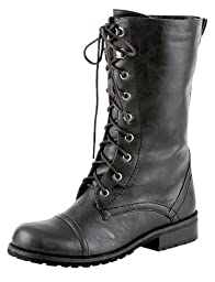Lug 11 Womens Military Lace up Combat Boot,Lug-11v8.0 Premium Black 7
