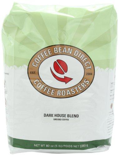 Coffee Bean Direct Dark House Blend, Ground Coffee, 80-Ounce Bag
