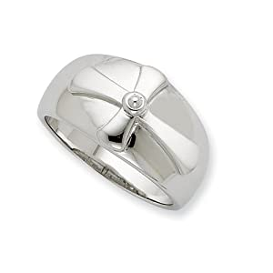 Sterling Silver Purity Mens Ring - Size V 1/2 - JewelryWeb