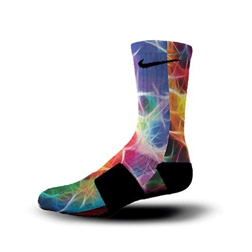 HoopSwagg Neuron Magic Custom Nike Elite Socks Medium Multi (Cool Nike Socks compare prices)