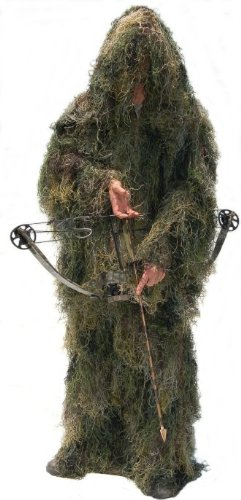 Ultra-Light Paintball Ghillie Suit Jacket & Pants Woodland