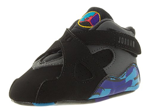 Nike Jordan Toddlers Jordan 8 Retro Gift Pack Blk/Tr Rd/Drk Chrcl/Brght Cncrd Basketball Shoe 2 Infants US