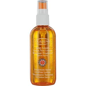 Clarins Oil-Free SPF 15 Moderate Sun Care Protection Lotion Spray, 5.1 Ounce