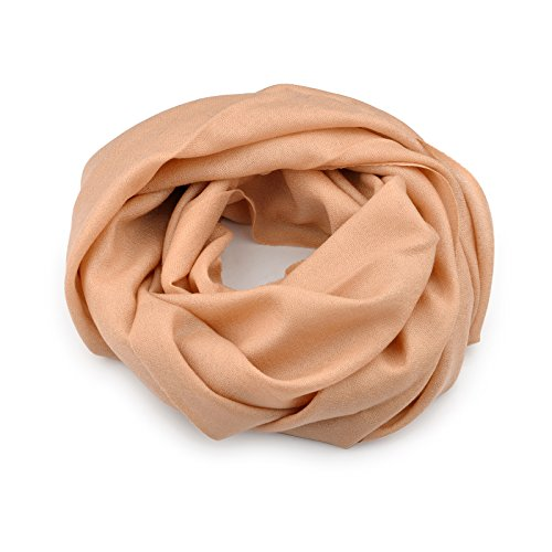 Smartodoors Woven Pashmina Scarf/Shawl/Wrap/Stole for ladies and women in light camel