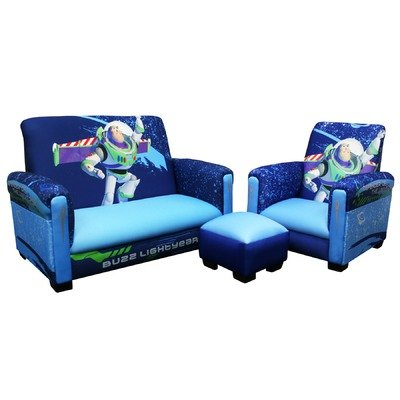 Disney Toy Story 3 Toddler Sofa Chair And Ottoman Set