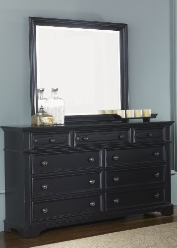 Carrington Ii Bedroom 9 Drawer Dresser In Black front-731514