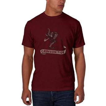 47 Brand Mens NCAA University of Alabama Crimson Tide Retro Logo Scrum Tee by