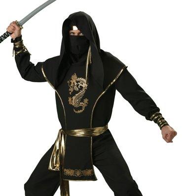 In Character Mens Adult Ninja Warrior Martial Arts Halloween Costume