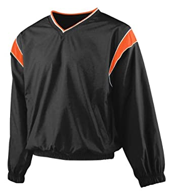 Augusta Mens Sportswear V-Neck Lined Sleeve Windshirt by Augusta
