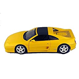Hot Wheels 1/18 Ferrari 355 Spider Version die-cast yellow