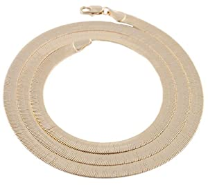 JOTW 2 Pieces of Goldtone 5mm 24 Inch Herringbone Chain Necklace