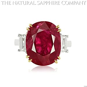 9.23ct Natural Round Ruby set in a Platinum and18k Gold Mounting with .86cts of diamonds (J3384)