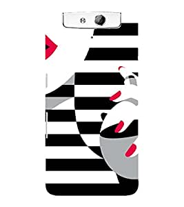 PrintVisa Fashion Perfume Design 3D Hard Polycarbonate Designer Back Case Cover for Oppo N1