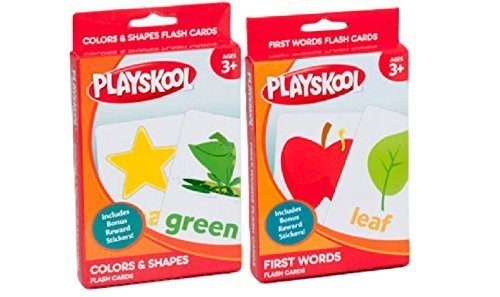 Set Of Two Colors - Shapes - First Words Flash Cards By PlaySkool