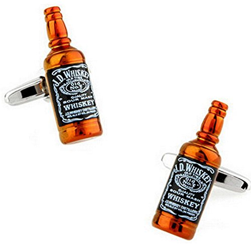 Rxbc2011 Men's Whisky Bottle Style French Shirts Cufflinks 1 Pair Set (Beer Cufflinks compare prices)