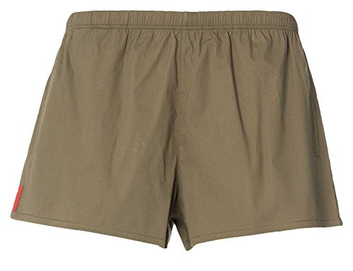 PRADA Uomini Shorts da bagno verde oliva 58/3XL