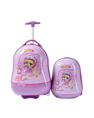Babyauto  Set Trolley + Zaino Alice Rosa