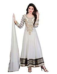 Zohraa Off White Faux Georgette Anarkali Suit - Z1723P507-16