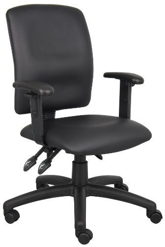 boss-office-products-b3046-multi-function-leatherplus-task-chair-with-adjustable-arms-in-black