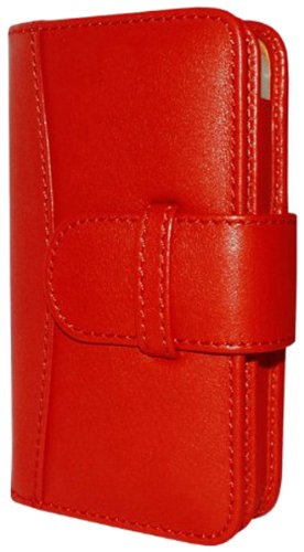 Piel Frama Wallet Leather Case for Apple iPhone 4/4S - Red Black Friday & Cyber Monday 2014