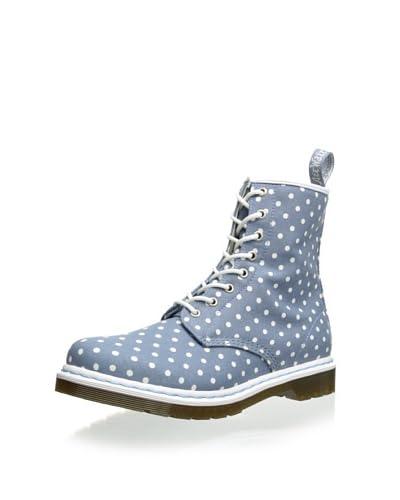 Dr. Martens Women's Castel Lace-Up Boot  - Light Blue Polka Dot