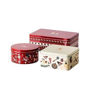 ikea keks dosen set sn kul 3 er set geschenkboxen. Black Bedroom Furniture Sets. Home Design Ideas