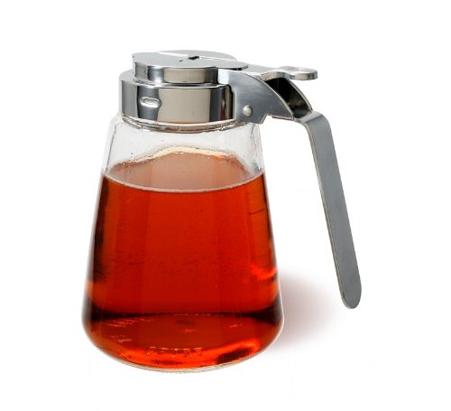 Stainless Steel and Glass 11 ounce Syrup Dispenser (Syrup Dispenser Microwave compare prices)