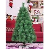 【本場のXmas】クリスマスツリー150cm ヌードツリー 本物そっくり!!抜群のツリー ガラスステッカー と 光るLEDスノーマン がセット!!
