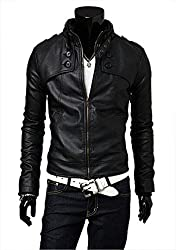 Hidewear mens PU leather jacket