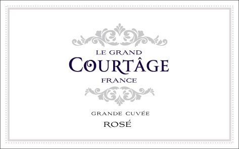 NV Le Grand Courtȃge Grande Cuvée Brut Rosé 187 mL Sparkling Wine