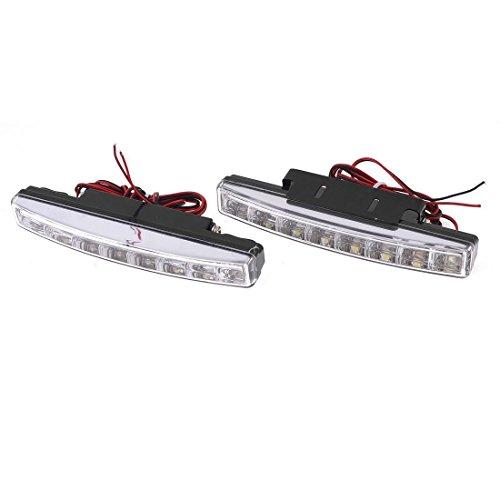 Car 0.48W 8 LED DRL conduite Daytime Running Light lampe blanche 2 Pcs