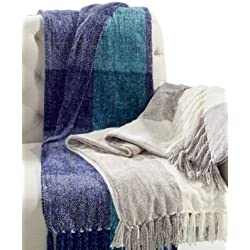 Charter Club Home, Chenille plaid Throw