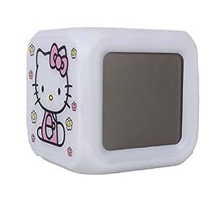 Réveil lumineux Hello Kitty K1 brille en 7 couleurs changeantes, avec 7 morceaux