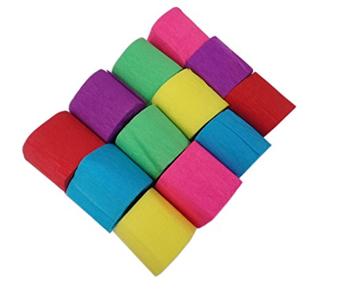 Aipleril Crepe Paper Assorted Colors Pack of 12 Craft Streamers Party Decorations (Party Decorations Crepe Paper compare prices)