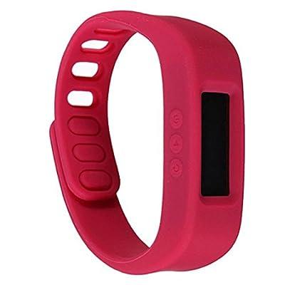 Bwatch Bluetooth 4.0 Smart Wrist Watch Health Bracelet Sports & Sleep Tracking Fitness-Red