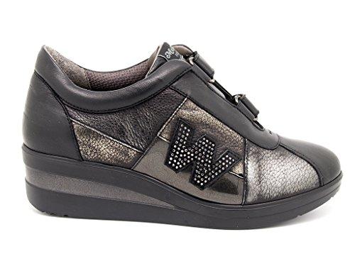 Melluso R0804 Sneakers Donna Nappa Nero Nero 39