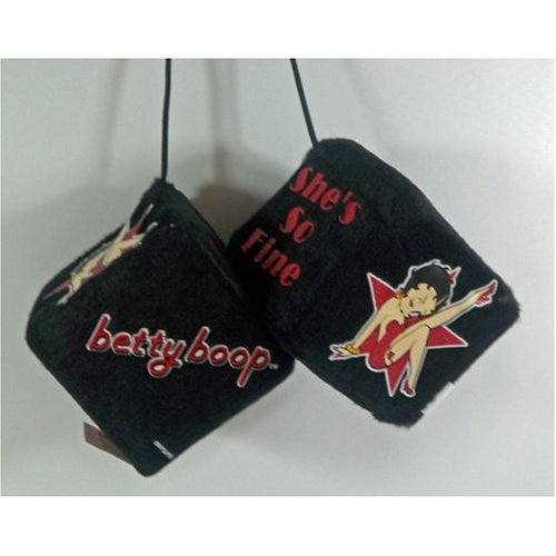 Betty Boop - She's So Fine - Hanging Auto, Car, Truck Fuzzy Dice