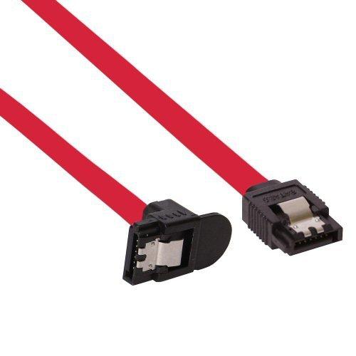 InLine SATA 6Gb/s Kabel, mit Lasche, gewinkelt, 0,3m