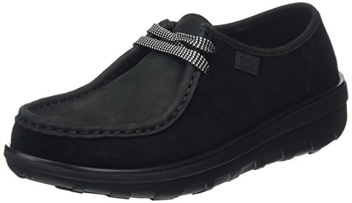 FitFlop - Loaff Lace-up Moc, Scarpe Brogue Donna, Nero (Black (Black 001)), 40 EU (6.5 UK)