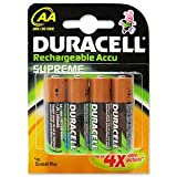 Duracell NiMH RECHARGEABLE AA BATTERY PK4