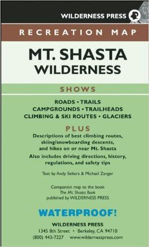 MAP Mt. Shasta Wilderness Recreation (Recreation Map) written by Wilderness Press
