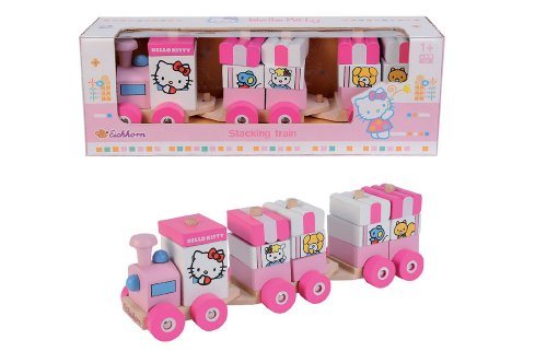 Eichhorn 100003130 - Hello Kitty, Trenino in legno