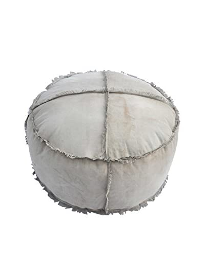 Austin Canvas Pouf, Tan