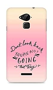 AMEZ dont look back you are not going that way Back Cover For Coolpad Note 3