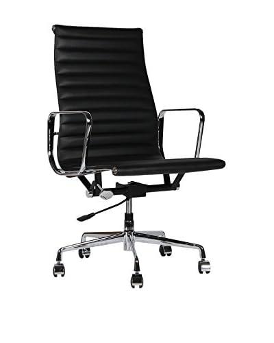 Lo + demoda Office Chair Charles Italiaanse Leder zwart