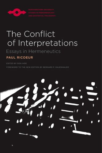 conflict interpretations essays hermeneutics pdf Get this from a library the conflict of interpretations : essays in hermeneutics [paul ricœur don idhe.