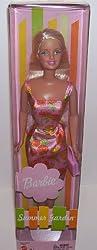 Summer Garden Barbie Doll in Orange and Pink Flowered Print Dress