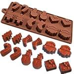 6 Shapes Christmas Chocolate Cake Jel...