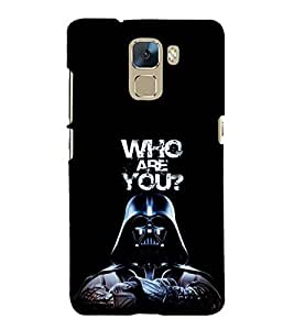 EPICCASE Who are You Mobile Back Case Cover For Huawei Honor 7 (Designer Case)