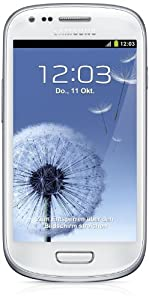 Samsung Galaxy S3 mini I8190 Smartphone (10,2 cm (4 Zoll) Super AMOLED Display, 8GB interne Speicher, 5 Megapixel Kamera, WiFi, NFC, Android 4.1) marble-white